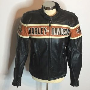 Harley Davidson racing Thunder Hill leather jacket